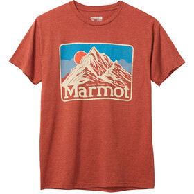 Marmot Mountain Peaks Tee SS Men, picante heather